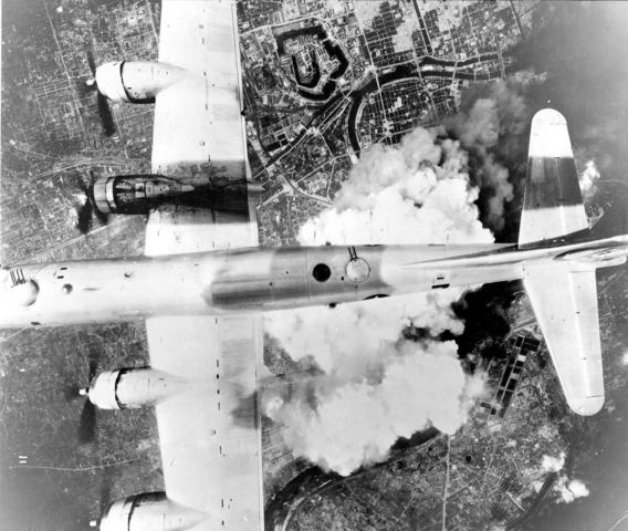 Bombs dropped on Tokyo