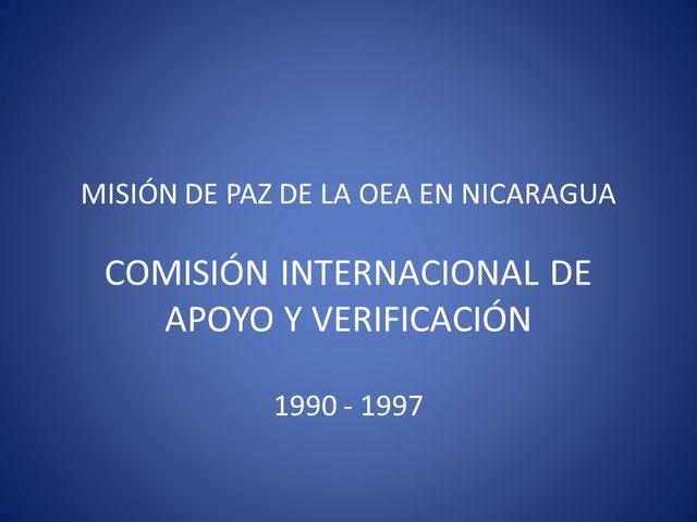 Misión de Apoyo - Nicaragua 1990 -1997