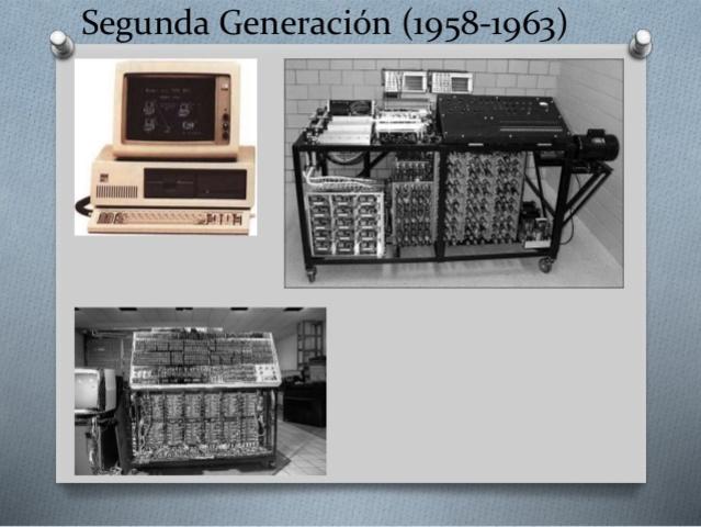 1959 a 1964. Segunda generacion de computadoras