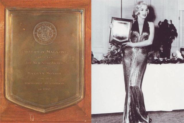 Журнал Photoplay вручил Мэрилин награду в номинации «Восходящая звезда 1952  года».