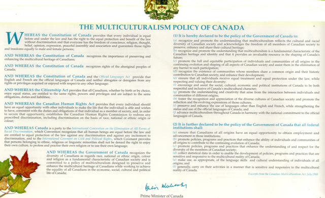Policy of Multiculturalism 1971