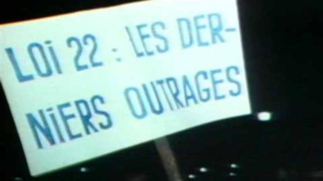 1974 Bill 22 introduced by Robert Bourassa