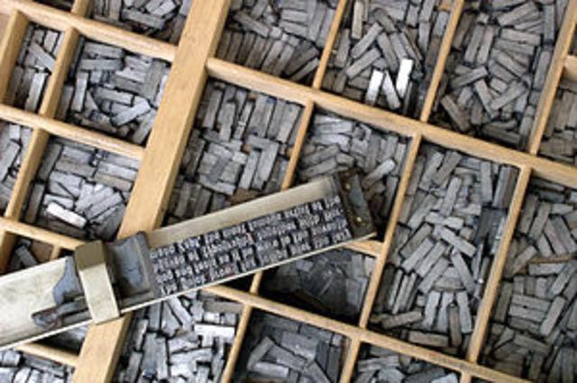 Tipografía en los periódicos y revistas.