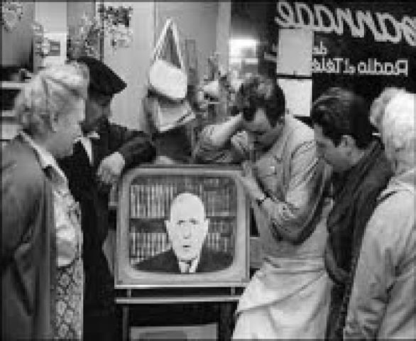 La primera transmisión en la televisión.