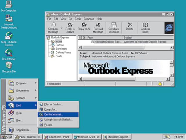 Windows 95: el equipo se hace mayor (y no olvides Internet)
