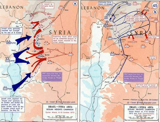 Egypt and Syria organize a surprise attack on Israeli forces