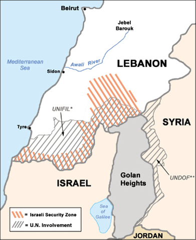 Israel withdrawals from Lebanon
