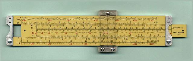 el inglés Edmund Gunter inventa la regla de cálculo