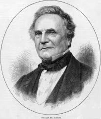 Charles Babbage diseña e intenta construir la primera computadora