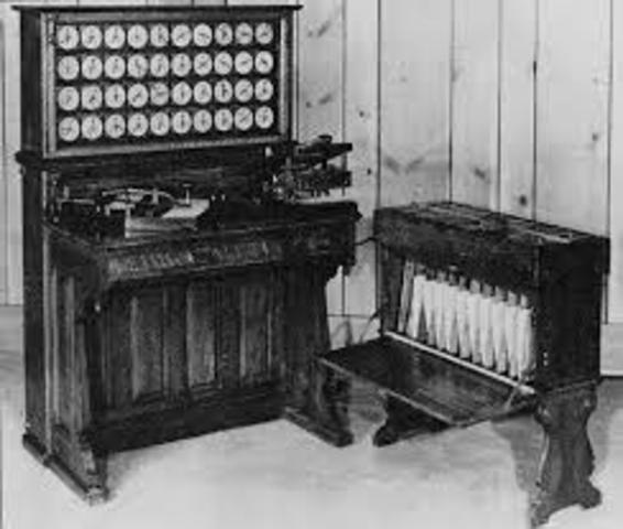 el norteamericano Hermann Hollerith inventa una máquina tabuladora