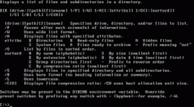 Microsoft presenta su sistema operativo MS-DOS, por encargo de IBM.