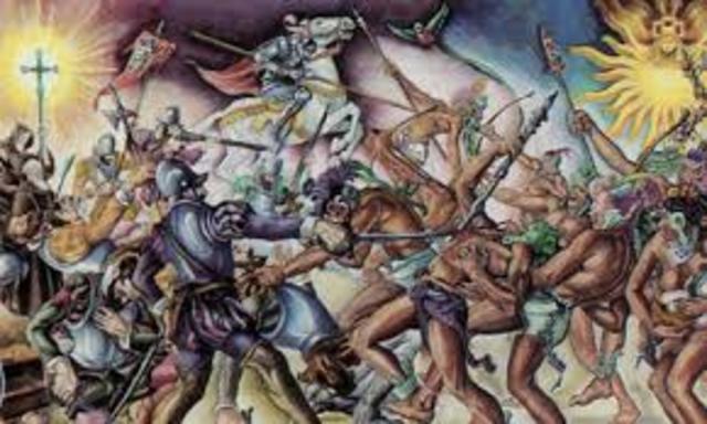 Los españoles derrotan a los K´iche