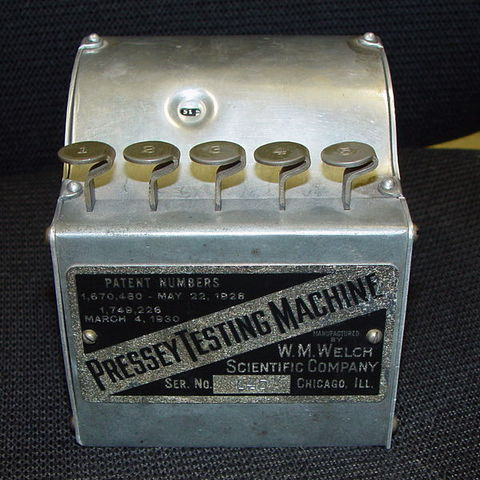 Pressey Testing Machine