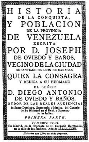 Historia de José de Oviedo y Baños