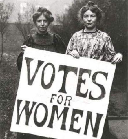 La mujer obtiene el derecho al voto