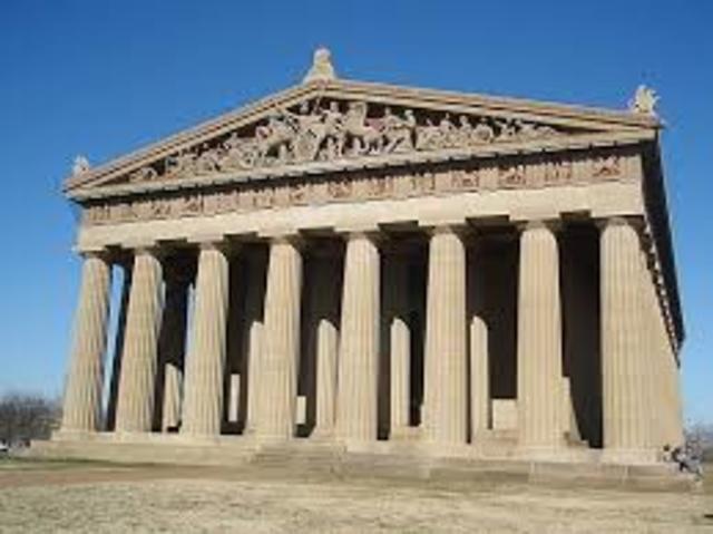 438-437 A.C Fiestas panateneas de Atenas: inauguración del Partenón.