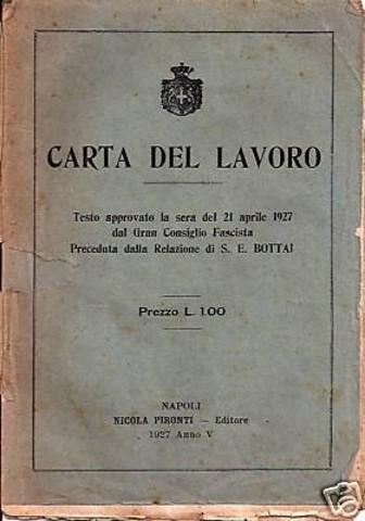 ITÀLIA - Sistema corporativista