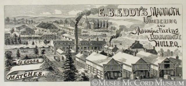 Eddy et usine d'allumettes