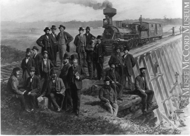Construction du chemin de fer Bytown et Prescott
