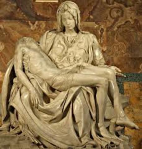 1497 Miguel ángel termina de esculpir La Piedad.