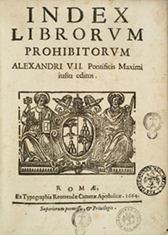 Indice de libros prohibidos. Muerte de Calvino. Maximiliano II, emperador de Austria. Muerte de Miguel Angel Bunonarroti. Nacimiento de Shakespeare.