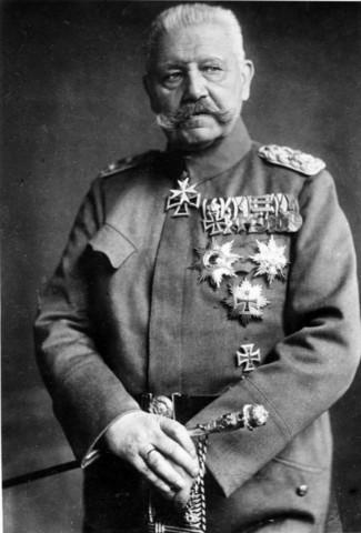 Paul von Hindenburg president de la república