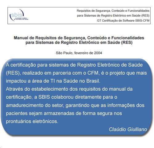 Manual de Certificação SBIS/CFM