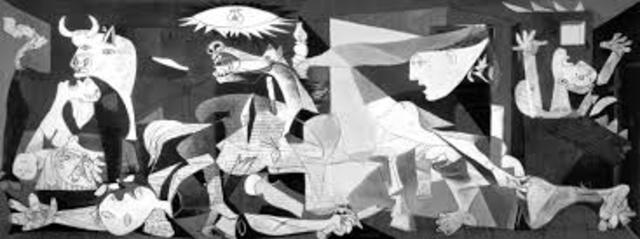 El cuadro Guernica de Picasso se muestra por primera vez al mundo. La obra se expuso en el Pabellón Español de la Exposición Universal de París