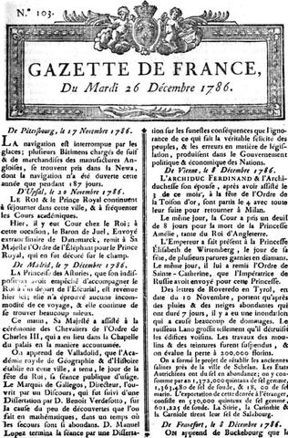 Primer periódico de París