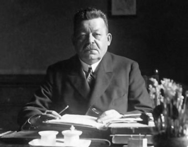 Friedrich Ebert, nou canceller i responsable del Reichstag