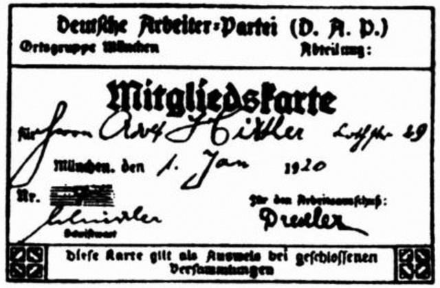 Entrada de Hitler al Partit Obrer Alemany