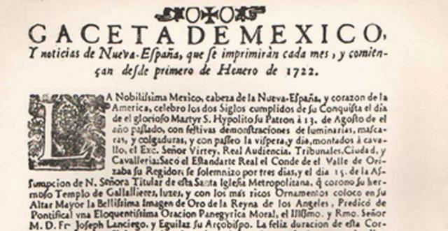 Primer periódico en Latinoamérica