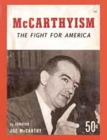 Joe McCarthy Begins Communist Witch Hunt
