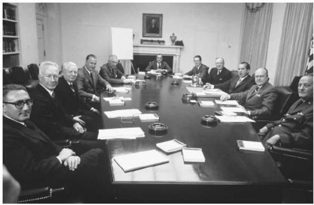 Eisenhower Reviews National Security