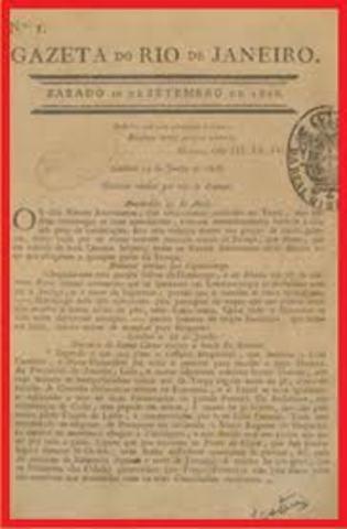 Primer periódico en Brasil