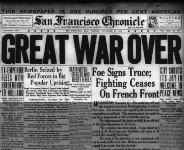 World War One Ends
