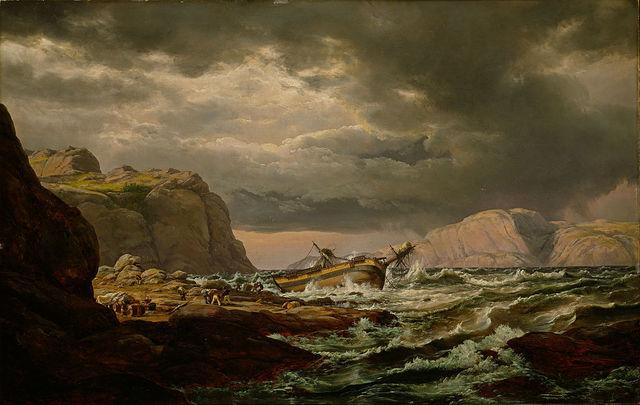 «Skibbrudd ved den norske kyst»