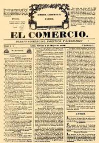 Creación del diario EL COMERCIO
