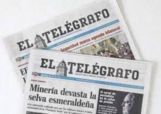 """Creación del diario """"El Telégrafo"""""""