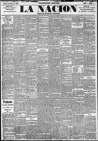 """Creación del diario """"La Nación"""""""