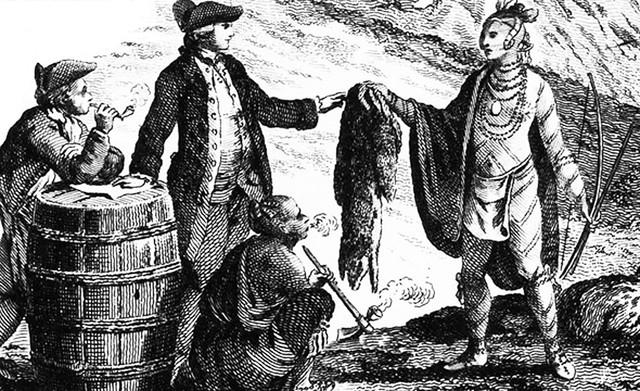Commerce des fourrures comme économie dominante