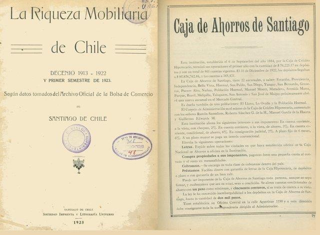 Se funda la Caja de Ahorros de Santiago.