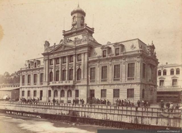 Se crea la bolsa de valores de Valparaíso.