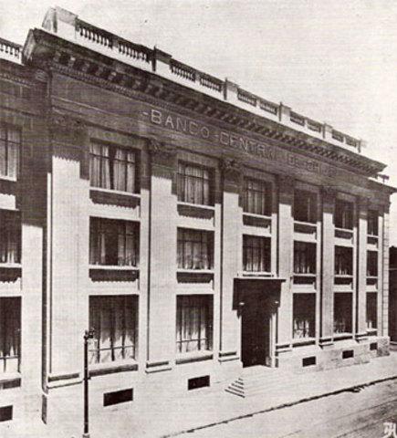 Se funda el Banco Central de Chile