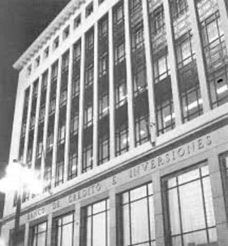 Se funda el Banco de Crédito e Inversiones. BCI