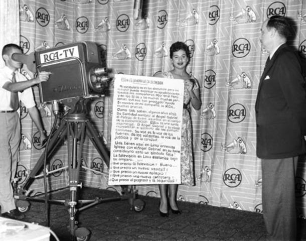 Primera televisión en Perú