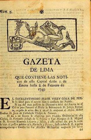 Primer periódico en Perú