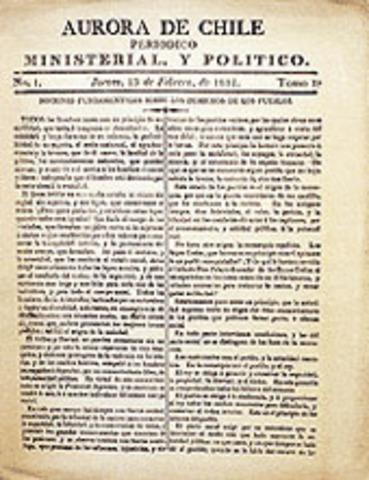 Primer periódico de Chile