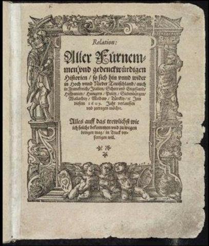 Aparece en Alemania el primer periódico regularmente impreso
