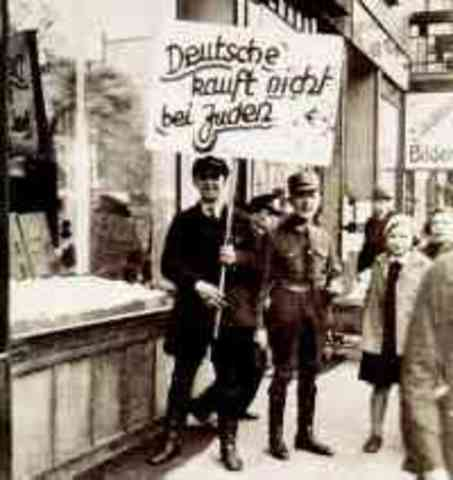 Boykott jüdischer Geschäfte
